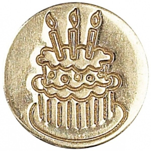 Manuscript Decorative Wax Sealing Coin Cake; Shape: Round; Size: 15 mm; (model MSH727CAK), price per each
