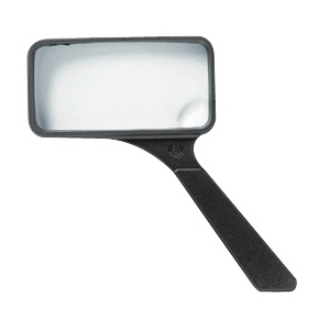"Ultraoptix® 2x/6x 2"" x 4"" General Purpose Magnifier; Magnification: 2x/6x; Size: 2"" x 4""; Type: Handheld; (model SVXP), price per each"