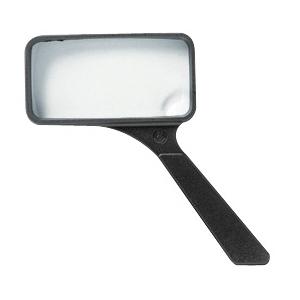 "Ultraoptix® 2x/6x 2"" x 4"" General Purpose Magnifier: 2x/6x, 2"" x 4"", Handheld, (model SVXP), price per each"