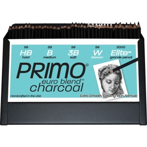 Primo® Euro Blend™ 96-Piece Charcoal Pencil Display: Black/Gray, Assortment, (model 59A), price per each