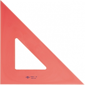 "Alvin® ; Angle: 45/90; Color: Orange; Material: Polystyrene; Size: 10""; Type: Triangle; (model FT450-10), price per each"