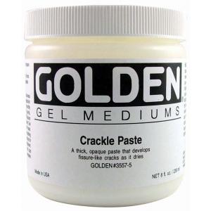 Golden® Crackle Paste 8 oz.: 236 ml, 8 oz, Texture, (model 0003557-5), price per each