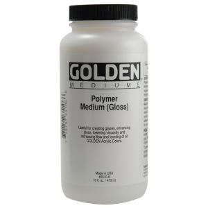 Golden Polymer Gloss Medium: 8 oz. (236ml) Bottle
