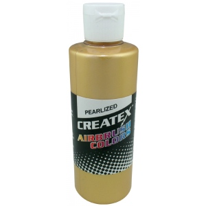 Createx™ Airbrush Paint 4oz Pearlescent Satin Gold: Metallic, Bottle, 4 oz, Airbrush, (model 5307-04), price per each