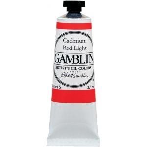 Gamblin Artists' Grade Oil Color 37ml Cadmium Red Light: Red/Pink, Tube, 37 ml, Oil, (model G1140), price per tube