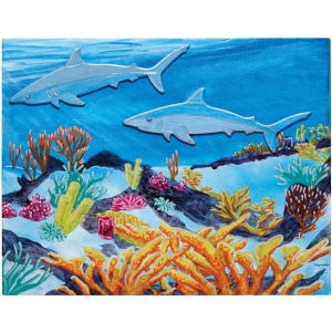 "Fredrix® Wyland® Sharks Reef Series; Format: Panel/Board; Size: 11"" x 14""; (model T2595), price per set"