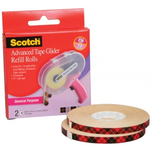 Scotch® Advanced Tape Glider Refill Rolls; Refill: Yes; (model ATG085-R), price per pack