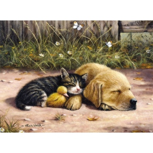 """Royal & Langnickel® Painting by Numbers™ 11 1/4 x 15 3/8 Junior Large Set Sleepy Day; Board Size: 11 1/4"""" x 15 3/8""""; (model PJL28), price per set"""