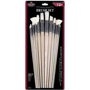 Royal & Langnickel® White Bristle Combo Brush Set; Length: Multi; Material: White Bristle; Shape: Multi; Type: Multi; (model RSET-9600), price per set