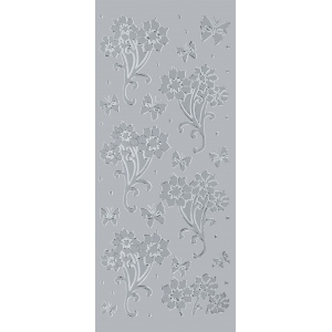 "Blue Hills Studio™ DesignLines™ Outline Stickers Silver #12: Metallic, 4"" x 9"", Outline, (model BHS-DL012), price per pack"