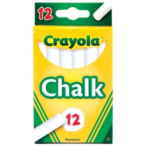 Crayola® Chalk Sticks White: White/Ivory, Stick, (model 51-0320), price per pack