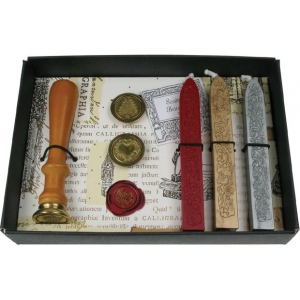 Manuscript Seal and Wax Set; Color: Metallic, Red/Pink; (model MSH7453SET), price per set