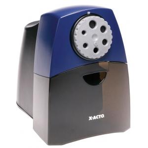 X-Acto® Teacher Pro Electric Sharpener; Color: Black/Gray, Blue; Holes: Six; Material: Plastic; Type: Electric; (model 1675), price per each