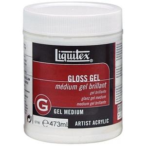 Liquitex® Gloss Gel Medium 16oz; Finish: Gloss; Size: 16 oz; Type: Gel; (model 5716), price per each