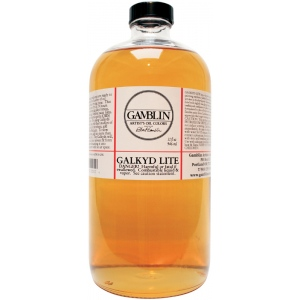 Gamblin Galkyd Lite Resin Medium 32oz: 32 oz, Oil Alkyd, (model G02032), price per each