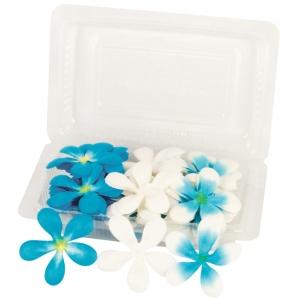 """Blue Hills Studio™ Irene's Garden™ Pack O'Plumerias Blue Splash: Blue, Paper, 2"""", Dimensional, (model BHS107527), price per pack"""