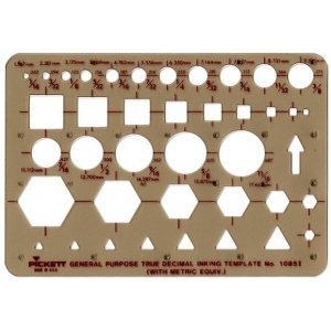 "Pickett® Pocket Template; Scale: 1/16"" - 11/16""; (model 1085I), price per each"