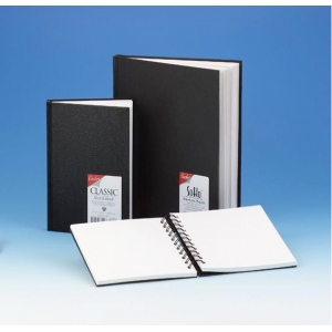 "Cachet® 11 x 14 Classic Black Wirebound Sketch Book; Binding: Wire Bound; Color: White/Ivory; Format: Book; Quantity: 80 Sheets; Size: 11"" x 14""; Weight: 70 lb; (model CSW1026), price per each"