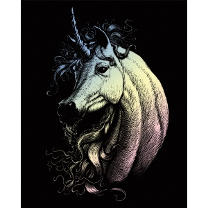"Royal & Langnickel® Engraving Art Set Holograph Unicorn: 8"" x 10"", Metallic, (model HOLO21), price per set"