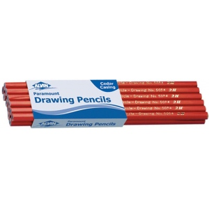 Alvin® Paramount Circle Drawing Pencil B: Black/Gray, B, Drawing, (model 5054-B), price per dozen (12-pack)