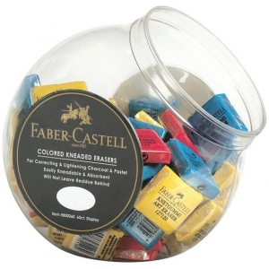 Faber-Castell® Color Kneaded Eraser Display; Type: Manual; (model FC800060D), price per pack