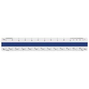"Alvin® 310 Series White Plastic Flat Pocket Engineer Scale: White/Ivory, Plastic, 6"", Engineer, (model 311E), price per each"