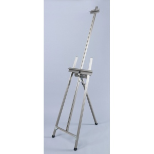 Martin Ambiente Classic A-Frame Easel: Natural Aluminum, Model # 92-20503