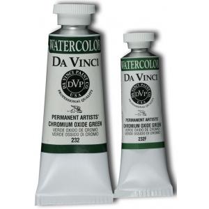 Da Vinci Artists' Watercolor Paint 37ml Chromium Oxide Green; Color: Blue, Green; Format: Tube; Size: 37 ml; Type: Watercolor; (model DAV232), price per tube