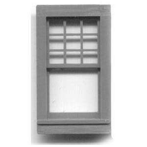 "1/4"" Scale Architectural Components: Double Hung Queen Anne  Window, Set of 4"