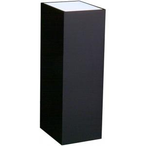 "Lighted Black Laminate Pedestal: 23"" x 23"" Base, 12"" Height"
