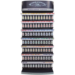 "Winsor & Newton Artists' Acrylic Paint 60ml Display Assortment: 24""W x 53""H x 12""D"