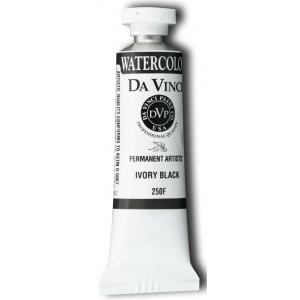 Da Vinci Artists' Watercolor Paint 15ml Ivory Black: Black/Gray, Tube, 15 ml, Watercolor, (model DAV250F), price per tube