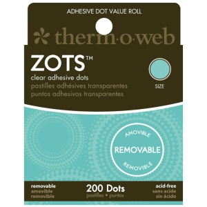 Therm O Web Zots™ Removable Clear Adhesive Boxed Dots: Clear, Glue, Round, (model TW3791), price per box