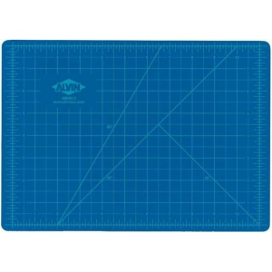 """Alvin® HM Series Blue/Gray Self-Healing Hobby Mat 3 1/2 x 5 1/2; Color: Black/Gray, Blue; Grid: Yes; Material: Vinyl; Size: 3 1/2"""" x 5 1/2""""; Thickness: 2mm; Type: Cutting Mat; (model HM0305), price per each"""