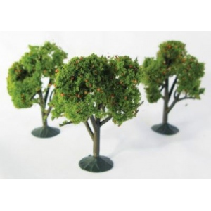 """Wee Scapes™ Architectural Model Orange Trees 3-Pack; Color: Orange; Material: Wire; Quantity: 3-Pack; Size: 2 1/4"""" - 2 1/2""""; Type: Tree; (model WS00325), price per 3-Pack"""