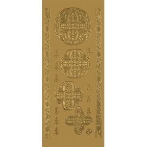 "Blue Hills Studio™ DesignLines™ Outline Stickers Gold #27; Color: Metallic; Size: 4"" x 9""; Type: Outline; (model BHS-DL027), price per pack"