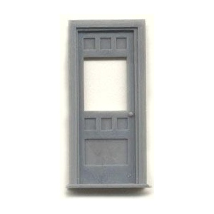 "1/4"" Scale Architectural Components: 30"" Door with Window and  Frame, Set of 2"