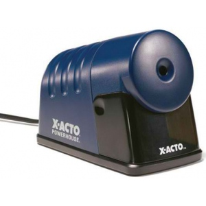 X-Acto® PowerHouse® Heavy-Duty Commercial Grade Electric Pencil Sharpener Blue; Color: Blue; Holes: One; Material: Plastic; Type: Electric; (model 1792), price per each
