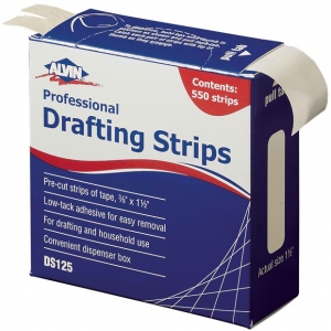 "Alvin® Drafting Strips; Type: Drafting; Width: 3/8""; (model DS125), price per each"