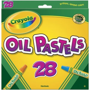 Crayola® Hexagonal Oil Pastel 28-Color Set; Color: Multi; Format: Stick; Type: Oil; (model 52-4628), price per pack