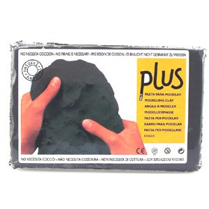 Plus Clay 2.2 lb Package: Black, Pack of 6