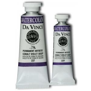 Da Vinci Artists' Watercolor Paint 15ml Cobalt Viol Deep; Color: Purple; Format: Tube; Size: 15 ml; Type: Watercolor; (model DAV237F), price per tube