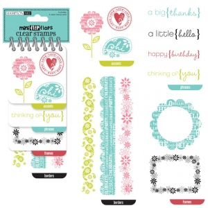 Hampton Art Mini Flip Flops Clear Stamp Set Every Occasion; Material: Acrylic; Mounted: No; (model HASC0288), price per each