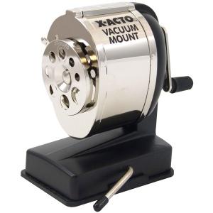 X-Acto® KSV Vacuum Mount Sharpener; Color: Black/Gray; Holes: One; Material: Steel; Type: Manual; (model KSV), price per each