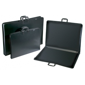 "Prestige™ Studio™ Series Lite Art Portfolio 1-1/2"" Gusset 24"" x 36""; Color: Black/Gray; Gusset Size: 1 1/2""; Material: Polypropylene; Size: 24"" x 36""; (model PC2436), price per each"