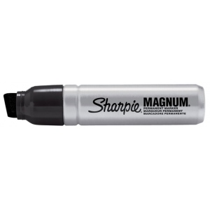 Sharpie® Magnum Permanent Markers: Black/Gray, Chisel Nib, (model SN44101), price per each