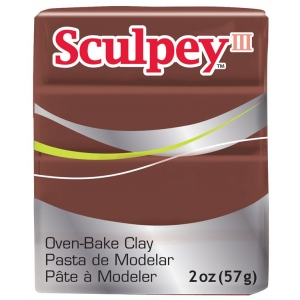 Sculpey® III Polymer Clay Chocolate; Color: Brown; Format: Bar; Material: Polymer; Size: 2 oz; (model S302053), price per each