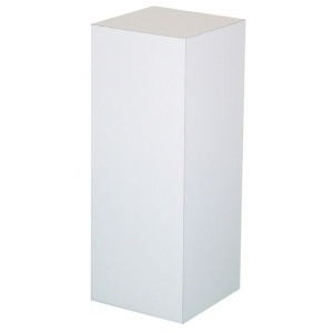 "Xylem White Laminate Pedestal: 18"" x 18"" Base, 12"" Height"