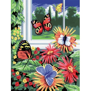 "Royal & Langnickel® Painting by Numbers™ 8 3/4 x 11 3/8 Junior Small Set Butterflies; Board Size: 8 3/4"" x 11 3/8""; (model PJS17), price per set"