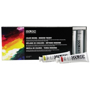 Golden® Heavy Body Acrylic Paint Modern Theory Color Mixing Sets; Color: Multi; Format: Tube; Size: 59 ml; Type: Acrylic; (model 0000912-0), price per set